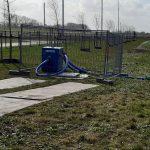 Waterpomp ingezet IJsbaan Burgum